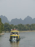Cruise Boat Between Guilin and Yangshuo, Li River, Guilin, Guangxi Province, China Photographic Print by Angelo Cavalli