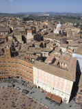 Piazza Del Campo, Unesco World Heritage Site, Siena, Tuscany, Italy Photographic Print by Angelo Cavalli