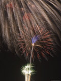 Fireworks Celebrating the 4th of July, Miami, Florida, USA Photographic Print by Angelo Cavalli