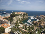 Monaco-Ville and the Port of Fontvieille, Monaco, Cote d'Azur, Mediterranean Photographic Print by Angelo Cavalli