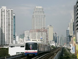 Bst (Bangkok Sky Train), Bangkok, Thailand, Southeast Asia Photographic Print by Angelo Cavalli
