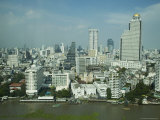 Silom District and Chao Praya River, Bangkok, Thailand Photographic Print by Angelo Cavalli