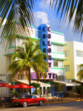 Ocean Drive, South Beach, Miami Beach, Florida, USA Photographie par Angelo Cavalli