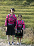Girls of Yao Minority, Longsheng Terraced Ricefields, Guilin, Guangxi Province, China Photographic Print by Angelo Cavalli