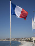 French Flag, Nice, Alpes Maritimes, Provence, Cote d'Azur, French Riviera, France Photographic Print by Angelo Cavalli