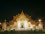 Wat Benchamabophit (Marble Temple), Bangkok, Thailand, Southeast Asia Photographic Print by Angelo Cavalli