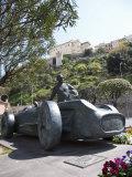 Monument to Juan Manuel Fangio, Monaco, Cote d'Azur Photographic Print by Angelo Cavalli