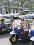 Tuk Tuks, Bangkok, Thailand, Southeast Asia Photographic Print by Angelo Cavalli