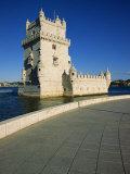 Torre De Belem River Along the Lisbon Port Photographic Print by Alain Evrard