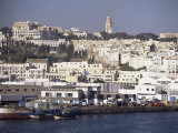 Harbor View to Old Town and Kasbah, Tangier, Morocco, North Africa, Africa, Photographic Print