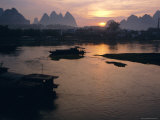 Sunrise Over Li River, Yangshuo, China Photographic Print by Ken Gillham