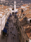 View of Placa from Walls of Old City, Dubrovnik, Dalmatia, Croatia Photographic Print by Peter Higgins