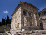 Treasury of the Athenians, Delphi, Unesco World Heritage Site, Greece Photographic Print by Ken Gillham