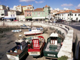 Fishing Boats at Low Tide, Peniche, Estremadura, Portugal Photographic Print by Ken Gillham