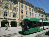 Trams Run Along Herrengasse, Stop at Hauptplatz in Main Street of Old Town, Graz, Styria, Austria Photographic Print by Ken Gillham