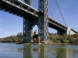 Little Red Lighthouse Under George Washington Bridge, New York, USA Photographic Print by Peter Scholey