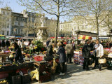 Saturday Market, Ville Basse, Carcassonne, Aude, Languedoc, France Photographic Print by Ken Gillham