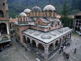 Main Church, Rila Monastery, Unesco World Heritage Site, Bulgaria Photographic Print by Peter Scholey