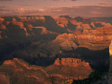 The Grand Canyon at Sunset from the South Rim, Unesco World Heritage Site, Arizona, USA Photographic Print by Tony Gervis