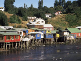 Palafitos, Castro, Chiloe Island, Chile, South America Photographic Print by Ken Gillham