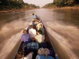 Boat Trip, Mulu National Park, Sarawak, Malaysia, Island of Borneo Photographic Print by Alain Evrard