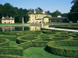 Curved Hedges in Formal Gardens, Schloss Hellbrunn, Near Salzburg, Austria Photographic Print by Ken Gillham