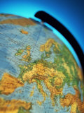 Close-Up of the Continent of Europe on a World Globe Photographic Print by Peter Higgins