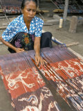 Woman Weaving Ikats, Sumba, Lake Sundas, Indonesia, Southeast Asia Photographic Print by Ken Gillham