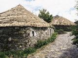 Rounded Thatched Pallozas of Celtic Origin, Cebreiro, Lugo Area, Galicia, Spain, Photographic Print