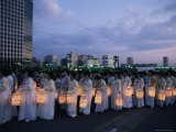 Lantern Parade at Beginning of Buddha's Birthday Evening, Yoido Island, Seoul, Korea Photographic Print by Alain Evrard