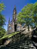 Scott Monument, Edinburgh, Lothian, Scotland, United Kingdom Photographic Print by Peter Scholey