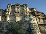Fortress Ramparts, Meherangarh, Jodhpur City, Rajasthan State, India Photographic Print by Alain Evrard