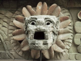 Sculpted Head of Goddess, Temple of Quetzacoatl, Teotihuacan, Mexico, North America Photographic Print by Desmond Harney