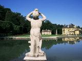 Pond and Gardens, Schloss Hellbrunn, Near Salzburg, Austria Photographic Print by Ken Gillham