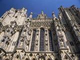 Architectural Detail, West Front, Wells Cathedral, Somerset, England, United Kingdom Photographie par Chris Nicholson
