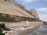 Apartments Below Water Catchment Slopes, Sandy Bay, East Side, Gibraltar, Mediterranean Photographic Print by Ken Gillham