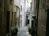 Narrow Street in Old Quarter, Spoleto, Umbria, Italy Photographic Print by Tony Gervis