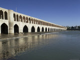 Allah Verdi Khan Bridge, Isfahan, Iran, Middle East Photographic Print by Robert Harding