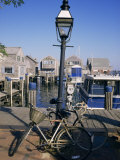 Bicycles, Nantucket, Massachusetts, New England, USA Photographic Print by Ken Gillham