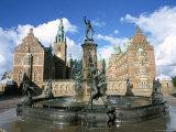 Neptune Fountain, Hillerod-Frederiksborg Slot (Castle), Zealand, Denmark, Scandinavia Photographic Print by Ken Gillham