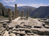 Temple of Apollo, Delphi, Unesco World Heritage Site, Greece Photographic Print by Ken Gillham