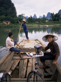 Ferry at Fung-Lo, Rural China Photographic Print by Ken Gillham