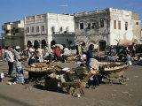 Outdoor Bazaar Scene, Djibouti City, Djibouti, Africa Fotografisk tryk af Ken Gillham