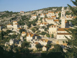 Town of Lozisca Above Steep Ravine, Lozisca, Brac Island, Dalmatia, Croatia Photographic Print by Ken Gillham