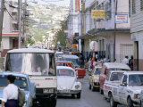 Traffic in Town Street, Montego Bay, Jamaica, West Indies, Caribbean, Central America Photographic Print by Robert Harding