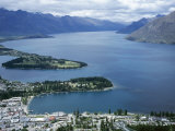 Queenstown Bay and the Remarkables, Otago, South Island, New Zealand Photographic Print by Desmond Harney