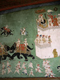 Wall Paintings in Royal Palace, Bundi, Rajasthan State, India Photographic Print by Tony Gervis