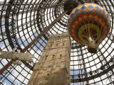 Melbourne Central Complex Incorporates Restored Shot Tower Beneath Glass Cone, Victoria, Australia Photographic Print by Ken Gillham