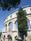Roman Amphitheatre Dating from 1st Century Bc, with 22000 Capacity, Pula, Istria, Croatia Photographie par Ken Gillham