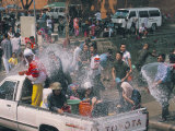 Songkran, Thai New Year, Water Festival, Chiang Mai, Thailand, Southeast Asia Photographic Print by Alain Evrard
